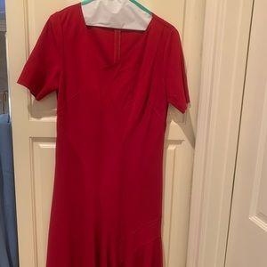 Red Flowy Handkerchief Dress
